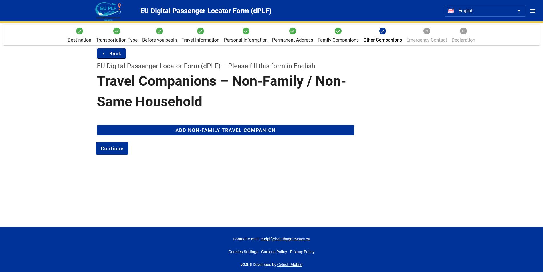 8 Non Family Companions