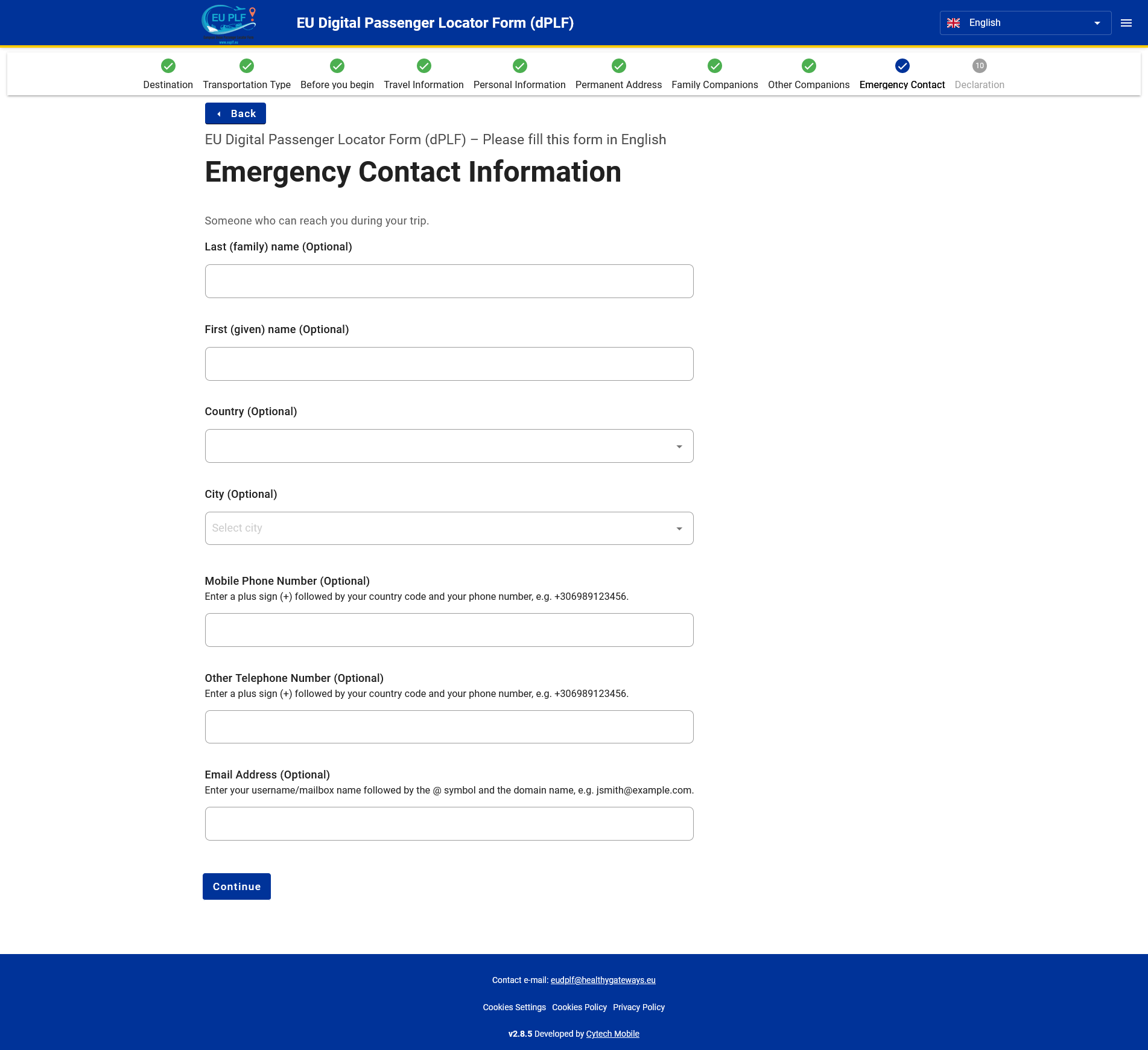 9 Emergency Contact